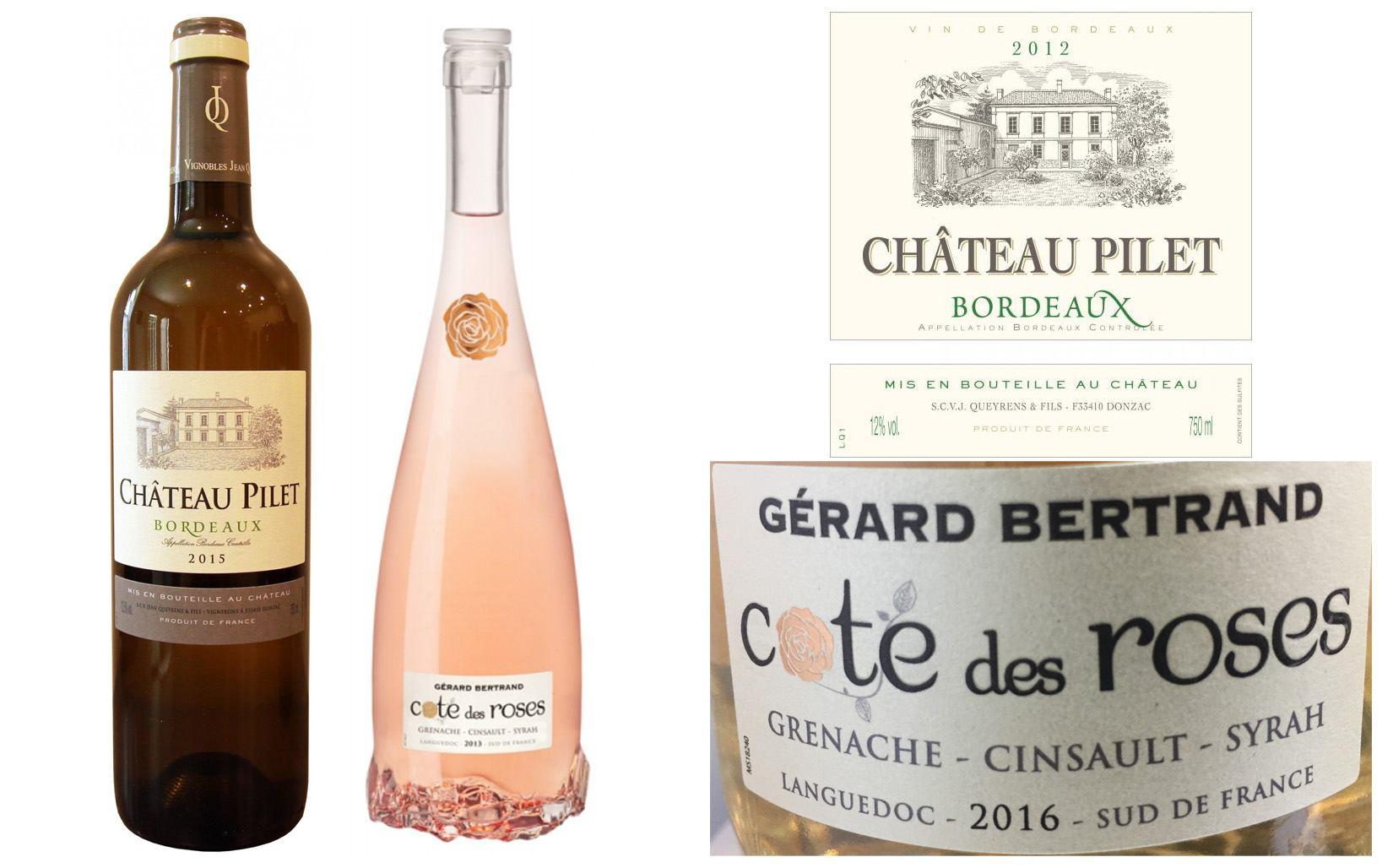 white bordeaux rosé languedoc