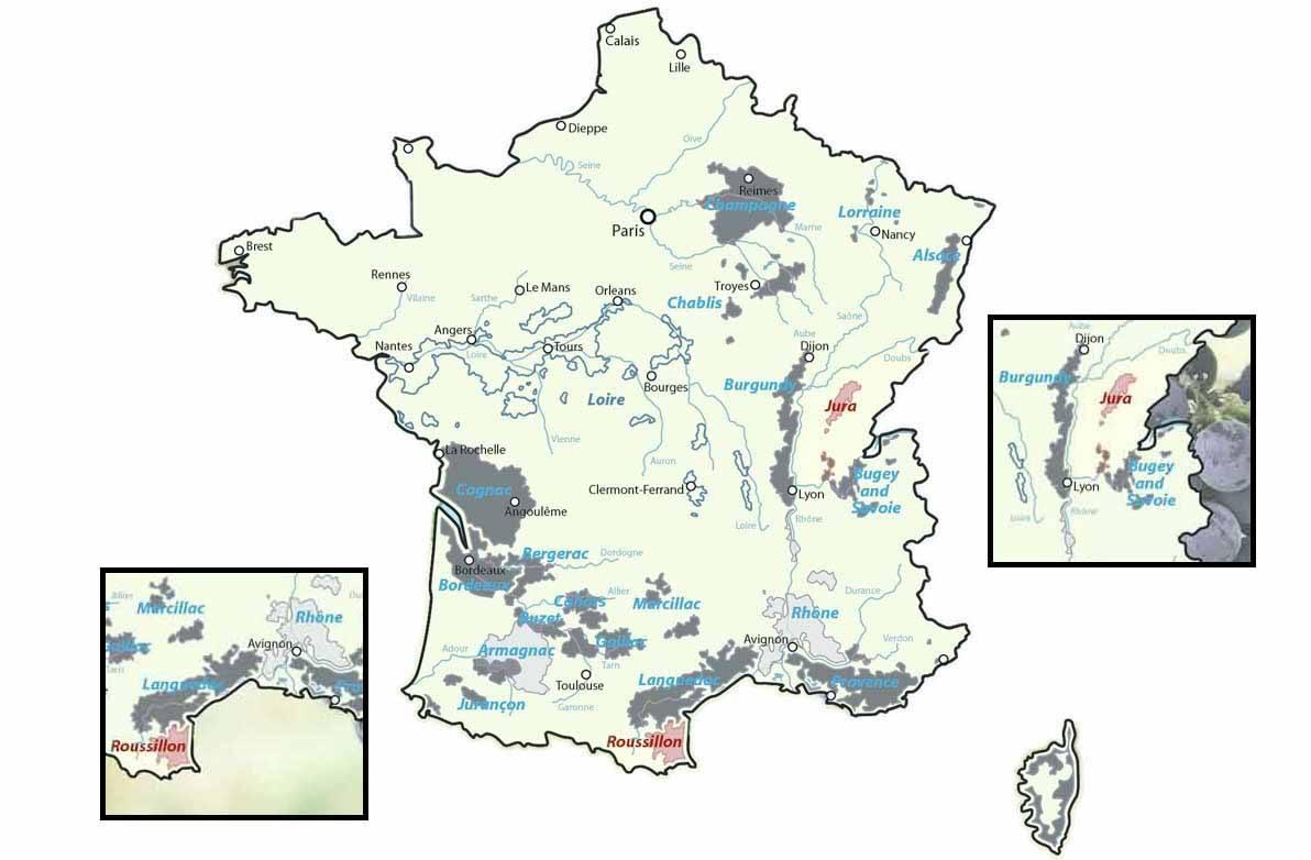 Roussillon and Jura