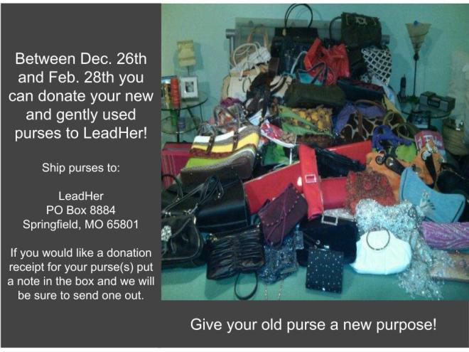 Our Annual Purse Collection is Open!
