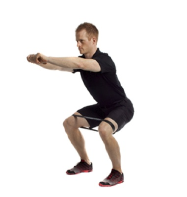 Banded-squat-glute-activation