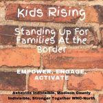 kids rising postcarding event