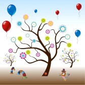 11994741-funny-tree-with-flowers-and-balloons