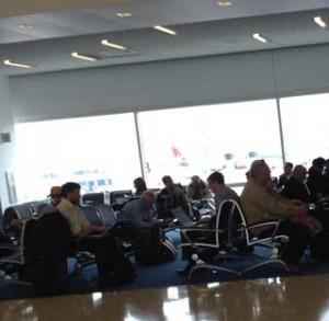 airport sitting