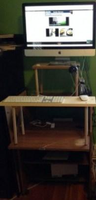 iMac stand-up desk