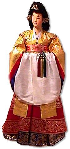 hwang wonsam- worn by empress (hwang means gold)