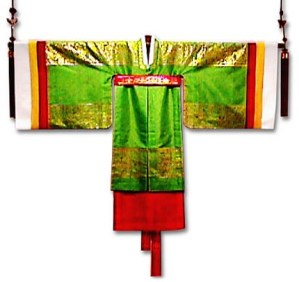nok wonsam- worn by princesses* (nok means green)