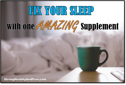 Did you know you can fix your sleep with one amazing supplement? Find out here!