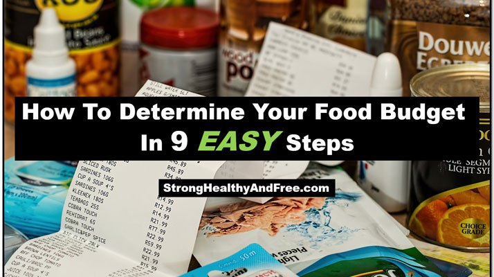 Guide: How to determine your food budget in 9 easy steps! #health #foodbudget
