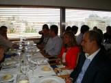 (11/10) O almoço de formatura dos alunos, com a presença do presidente, diretor e professora do ISCTE