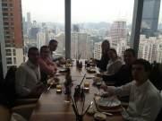 (13-11) A seguir, almoço no Grand Hyatt Shenzhen. Uma vista privilegiada de toda a cidade.