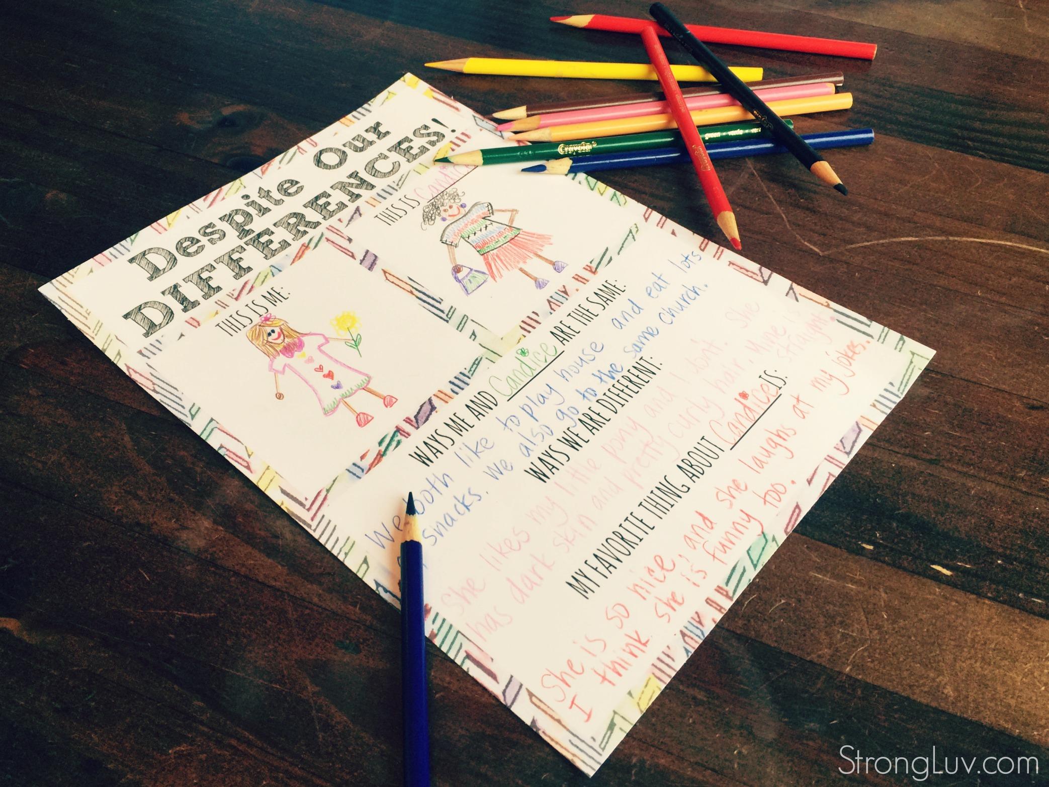 A Fun Way To Help Children Appreciate Diversity Printable