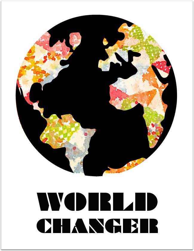 world changer print