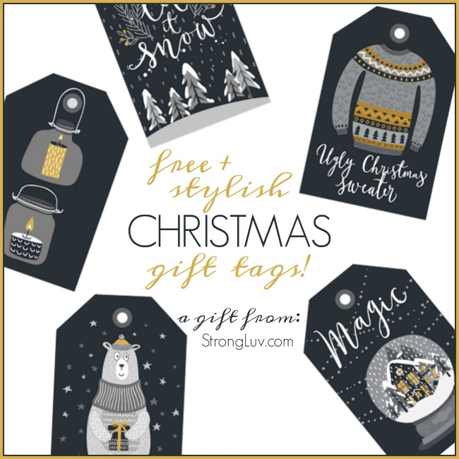 free stylish christmas gift tags