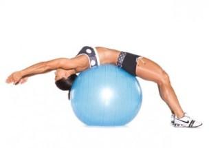 Stability Ball Ab Stretch