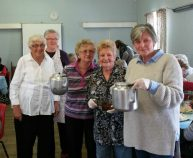tea and sandwiches from Friends of the Lodge served lunch