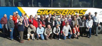 Happy visitors ... Probus club members in Stroud