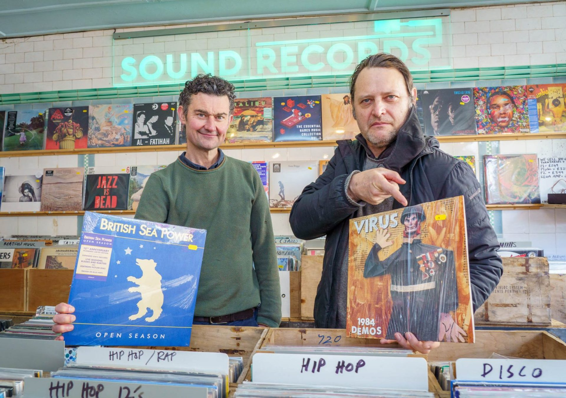 Tom Berry and Sean Roe at Sound Records.