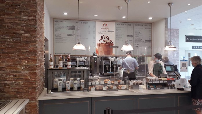 Waitrose becomes latest supermarket to reopen cafés for dine-in