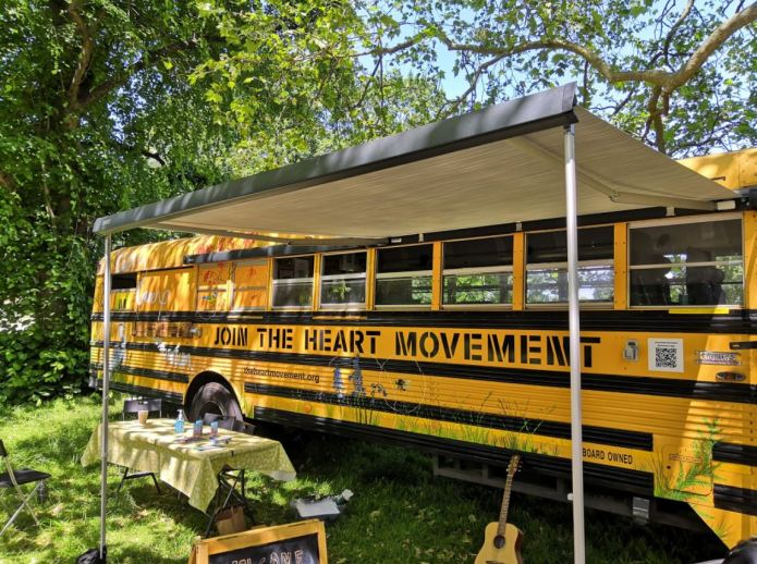 A bus with a big heart