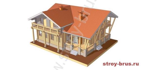 Как выглядит деревянный дом из клееного бруса Штандарт
