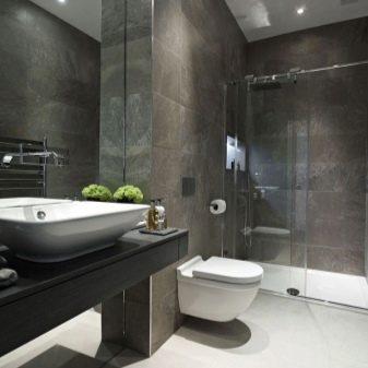 ванная совмещенная с туалетом дизайн 1