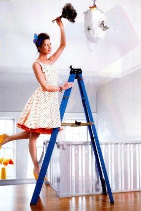 Cum să spălați plafoanele întinse?