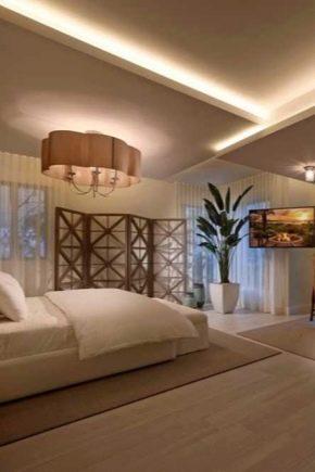 дизайн потолка в спальне 2