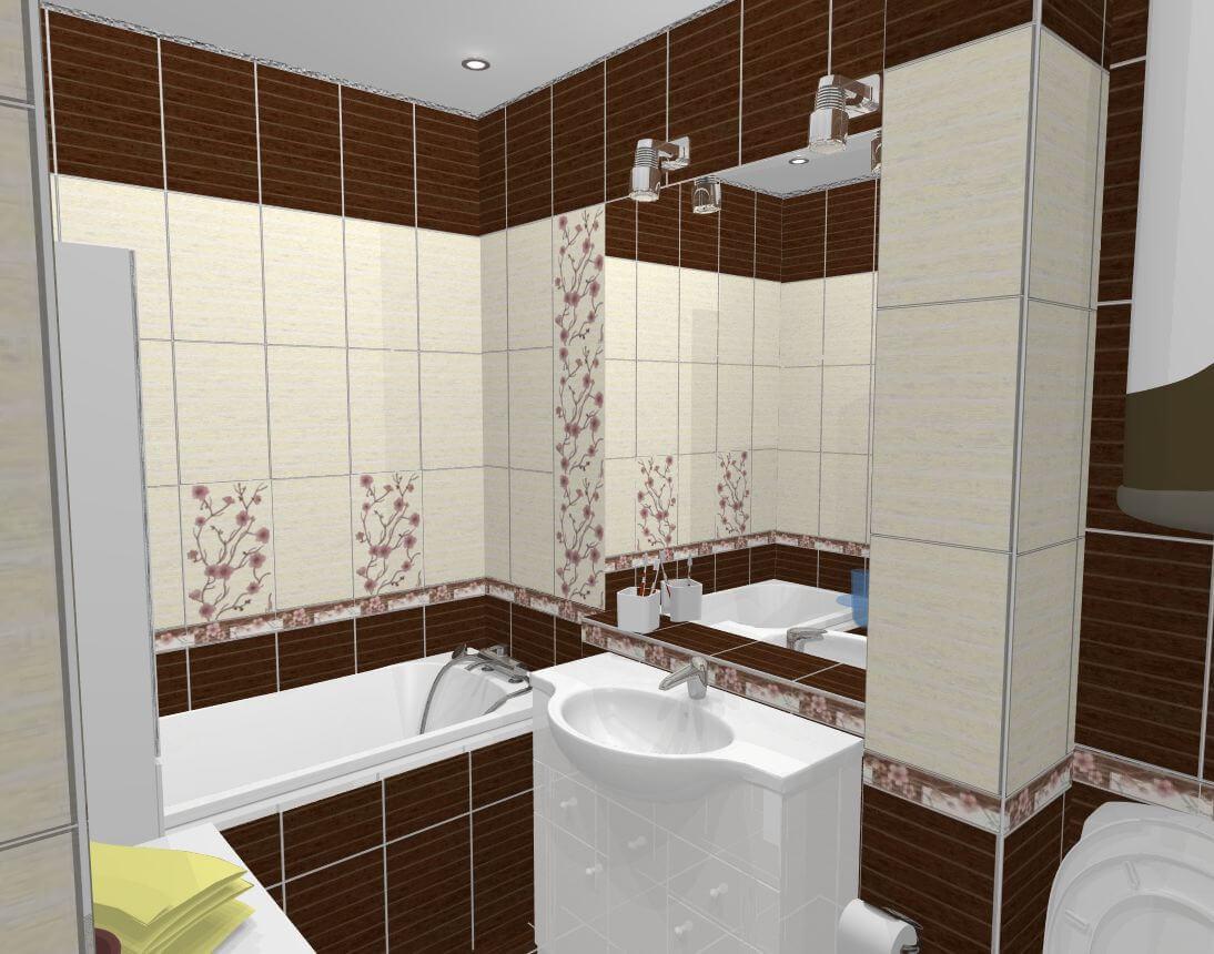 дизайн маленькой ванной комнаты совмещенной с туалетом 4 квм фото 1