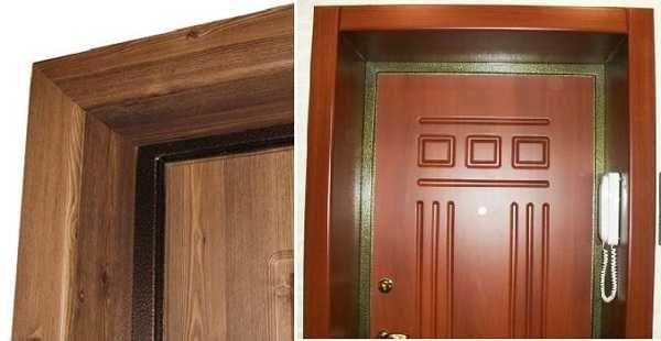 Установка дверных откосов из МДФ или ламинированного ДСП несложна, а результат замечательный