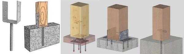 Ways of fastening poles (racks)
