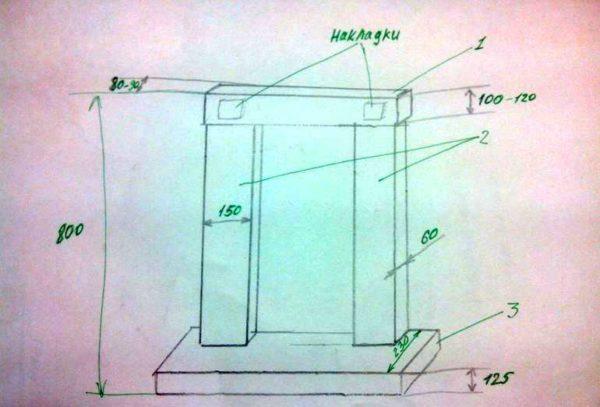 Chaminé de desenho de caixa de papelão