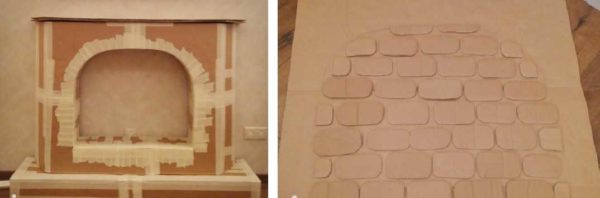 Cardboard Fireplace Production Process