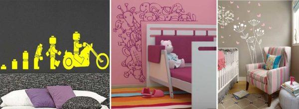 Для детской трафареты для стен под покраску специфические
