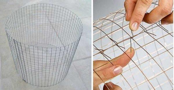 چارچوب استوانه ای برای لامپشار ساخته شده از سیم مش