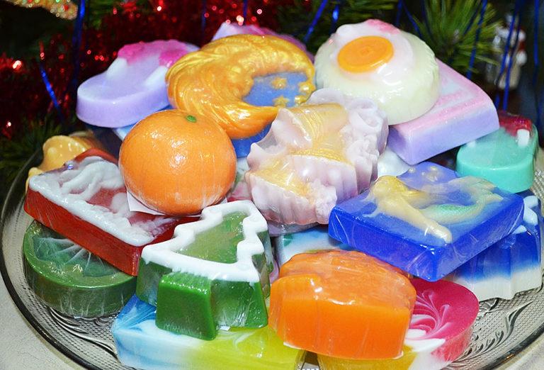 صابون زیبا به عنوان یک هدیه