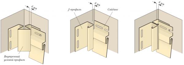3个用于实施壁板壁板的内角的选项