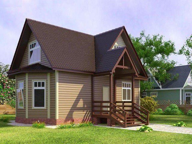 Rumah pedesaan dengan loteng kecil