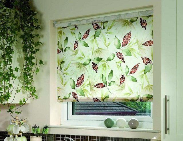 Рулонные шторы с рисунком способны стать украшением интерьера помещения