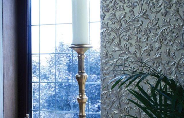 Sommige soorten wallpapers hebben een zeer sterk embossed-patroon.