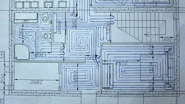 Ett sådant layoutdiagram av ett varmt golv har också rätten till liv och kommer att bli en stor hjälp