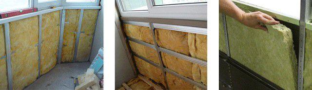 Оқшаулау қабырғасының балкон минералды жүні