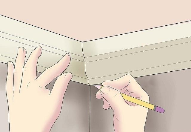 En av de enklaste, men också den mest imperfor metod för montering takplintar. Många komplexa profiler kan inte justeras på detta sätt.