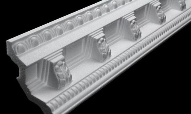 Materialets struktur är tydligt synlig på skumkassettskäret.