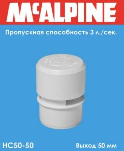 Вакуумный клапан для канализации - спасет от неприятных запахов из канализации 1 Строительный портал