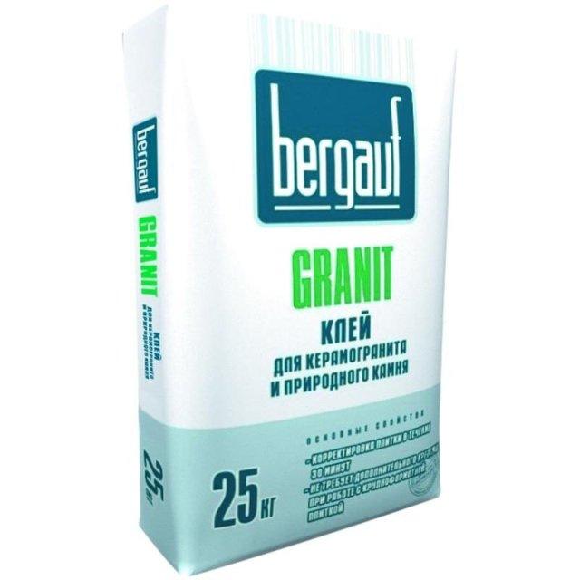Клеевые составы для керамогранита. Выбор клеевого состава в зависимости от условий использования Bergauf Granit Строительный портал