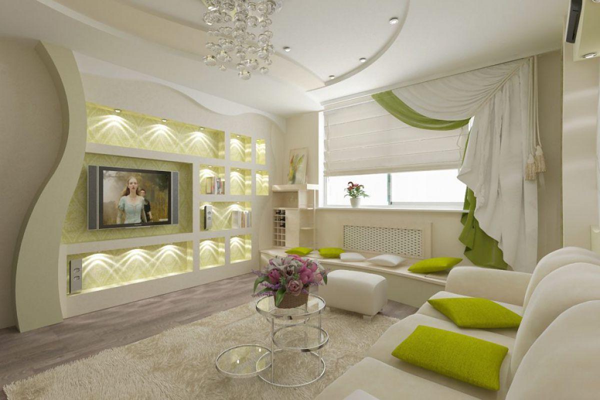 дизайн стены в гостиной фото 2