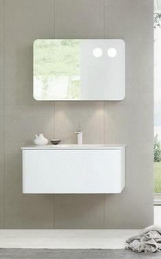 Badausstattung Badmöbel Waschbeckenunterschrank Spiegel Armaturen