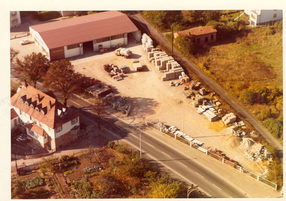 Firma Struckmeier Gelände außen von oben 1956 Bad Kreuznach