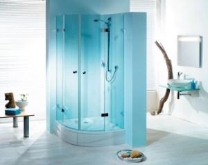 Duschkabine Glas blau