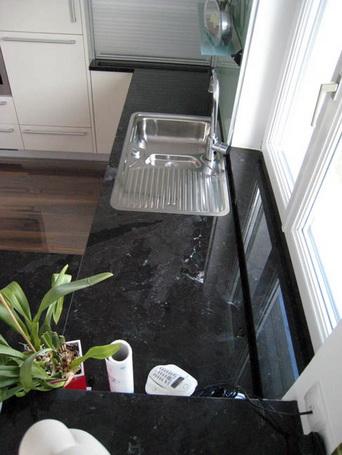 Naturstein - Küchenarbeitsplatten Küchenarbeitsplatte Naturstein Küche Schwarz